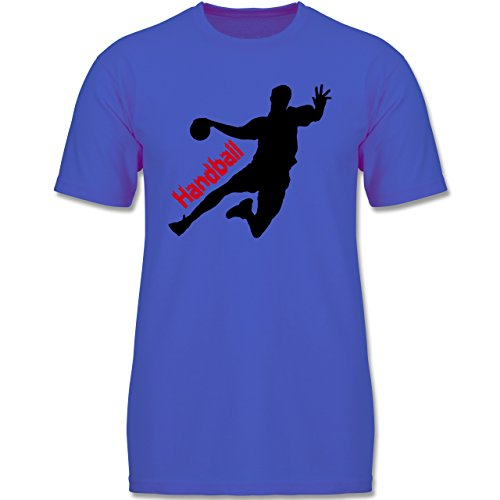 Sport Kind - Handball - 164 (14-15 Jahre) - Royalblau - F140K - Jungen T-Shirt