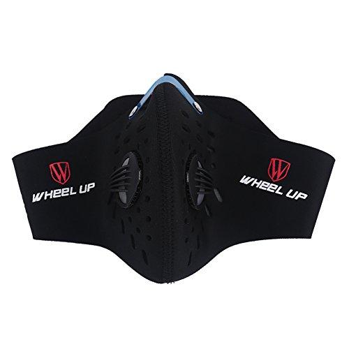 Maschera Antipolvere per Viso e Bocca Unisex Maschera Invernale Antisdrucciolevole Antiriflesso Antivento per Escursioni in Bicicletta Outdoor Sports ( Colore : Nero )