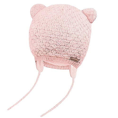 JOYORUN Unisex - Baby Mütze Beanie Strickmütze Unifarbe Wintermütze Rosa S