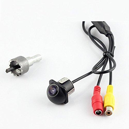 CoCar Auto Pkw Rückfahrkamera 18.5mm Bohren Lochsäge Flush Mount Einparkhilfe Autoparksysteme Wasserdicht Spiegelbild mit Richtlinien PC7070