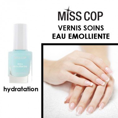 MISS COP - Eau émolliente - Vernis Soins - 12ml
