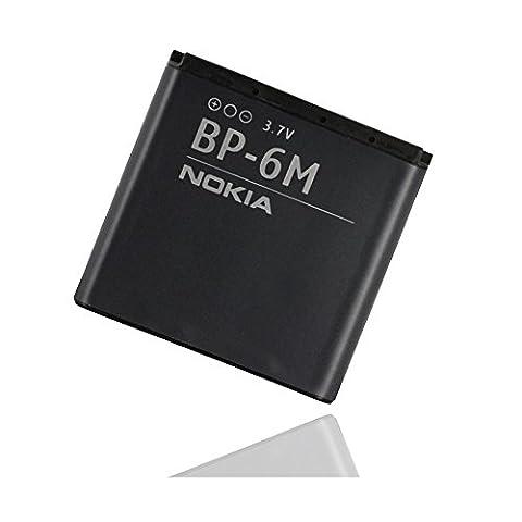 ORIGINAL Akku accu Batterie battery für Nokia 9300, 9300i, 3250, 6110 N, 6151, 6233, 6234, 6280, 6288, N73, N77, N81, N93 - 1100mAh - Li-Ionen - (BP-6M)