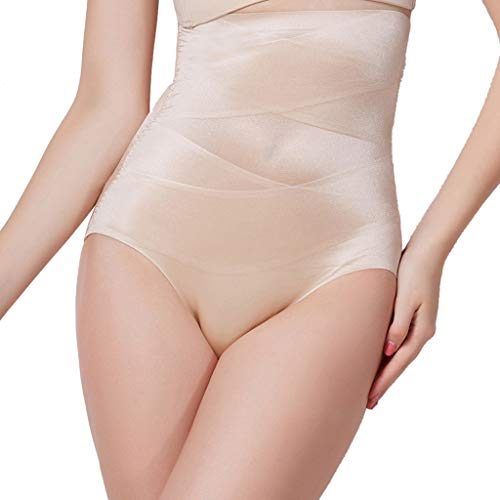 Control Shaper (YSFWL Shapewear Damen Miederhosen Korsett Bauch Weg Figurformender Taillenformer Miederslip Miederpants Body Shaper Control Slim Tummy Korsett Hohe Taille UnterwäSche Hosen Nahtlose Hose (L, Khaki))