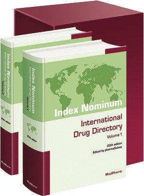Index nominum international drug directory 20th ed 2 volumes (1Cédérom)