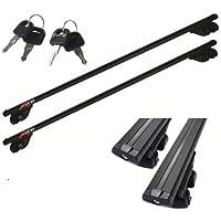 Arearicambi–Barras portaequipajes 135cm homologadas portaequipajes negro para coche hyundai ix3513> kg 90Max