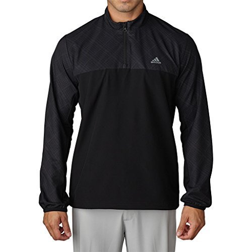Adidas 1/4 Zip (Adidas Golf 2016 Climastorm™ Competition 1/4 Zip Mens Performance Golf Wind Jacket Carbon/Black XL)