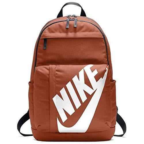 Nike Nk Elmntl Bkpk Mochila, Unisex Adulto, Negro/Blanco (Dark Russet), Talla Única