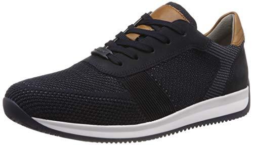 ARA Herren Lisboa 1136001 Sneaker, Blau (Blau-Grau, Blau/Cognac 13), 47 EU