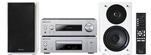 Pioneer P1 W   Estéreo compacto (Direct Energy HD amplificadore de potencia, 2x 75W, 2Vías altavoz frontal con Bass Reflex) Plata/Blanco