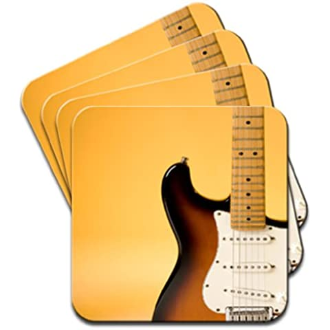 De guitarra eléctrica 4 posavasos Set de luces para de