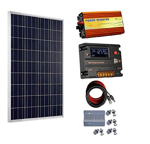 ECOWORTHY - Kit Paneles solares 100 W 12 V Controlador
