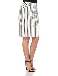 Roman Originals Women's Cotton Stripe Pencil Skirt