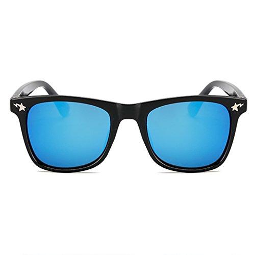 ZLHL Kindermode Sonnenbrille Camo Rahmen HD Bunte Linsen 100% UV400 Alter 3-10 (Farbe : Blue)