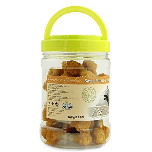 Pet Cuisine Hundesnacks Hundeleckerli Kausnacks, Süßkartoffel Kauknochen, 340g - 2