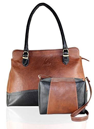 Fargo Couthy PU Leather Women's & Girl's Shoulder Handbag & Sling Bag Combo Of 2 (Brown,Black_FGO-050)