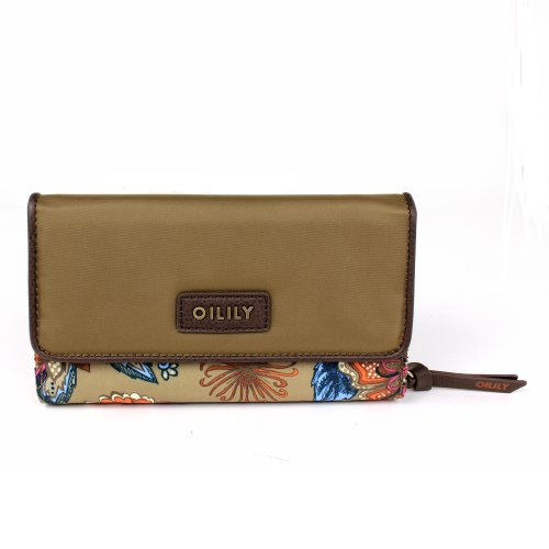 Oilily Sea of Flowers L Wallet - Solid Bronze