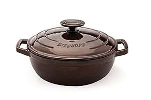 BergHOFF 3502632 Wok avec Couvercle Fonte de fer Marron 32 cm