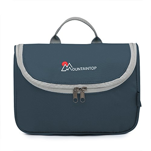 Mountaintop Kulturbeutel Kosmetiktasche Kulturtasche zum Aufhängen Toiletry Bag Waschtasche für Reise Urlaub, 23.5 x 6 x 17 cm (A - Dunkelgraues Blau)