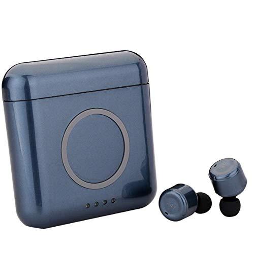 ZGYQGOO Bluetooth Headset Invisible Kabellose In-Ear-Kopfhörer 4.2 Intelligente Rauschunterdrückung Kabelloses Laden Mit Ladefach, Bewegung der kabellosen Ohrstöpsel, Blau