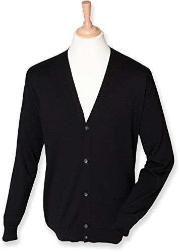 Henbury - Cardigan homme Henbury Black