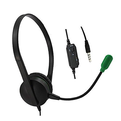 mm Computer Headset mit Mikrofon Geräuschunterdrückung, leichtes PC Headset Wired Kopfhörer, Business Headset für Skype ()