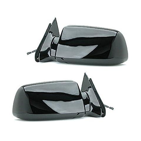 88 - 98 Chevrolet Silverado GMC Sierra Door Mirror Pair Set Power Black Blazer Jimmy Suburban Tahoe Yukon Driver and Passenger by Not