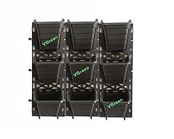 VGreen Garden Black Polypropylene Vertical Garden Planter