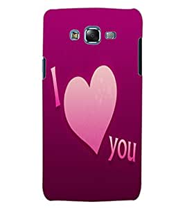 ColourCraft Love Quote Design Back Case Cover for SAMSUNG GALAXY J5