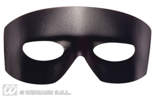 (Widmann–Zorro Maske Domino Liquidator Unisex Erwachsene, schwarz, One Size, 6435b)