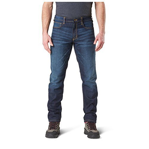 5.11 Tactical Herren 'Defender - Flex Jean - Slim, 74465, Dark Wash Indigo, Size 38 x 32 (Gewaschen Denim Indigo)
