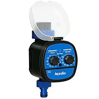 Aqualin Ball Valve Water Timer Electronic Garden Irrigation System Controller Hose Timer With Delay Function Waterproof