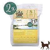 Wildes Land | Trockenfutter für Hunde | Nr. 8 Puppy Ente & Huhn | 24 kg | mit Kartoffeln und Wildkräutern | Glutenfrei & Hypoallergen | Extra viel Fleisch Akzeptanz und Verträglichkeit
