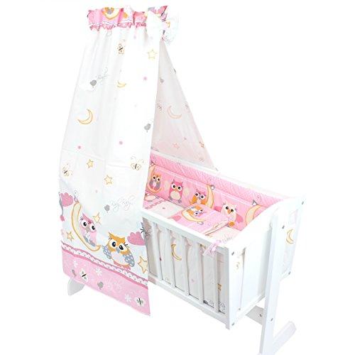 TupTam Unisex Baby Wiegen-Set 6-tlg., Farbe: Eulen Rosa, Anzahl der Teile:: 6 tlg. Set