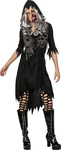 Orlob Damen Kostüm Fetzenweste Hexe Vampirin Zombie Halloween -