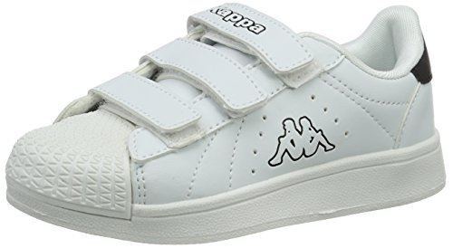 Kappa Olymp, Sneakers Basses Mixte Enfant Blanc (White/black)