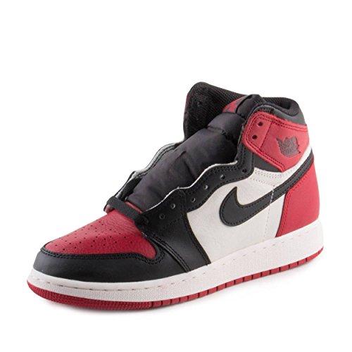 Nike Air Jordan 1 Retro High OG BG (GS) 'Bred Toe' - 575441-610 - Size - 7Y -