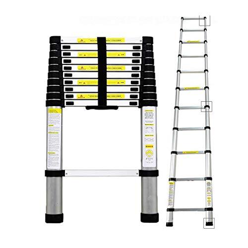 Todeco - Echelle Telescopique, Échelle Pliable - Charge maximale: 150 kg - Matériau: Alliage en aluminium - 3,2 mètre(s), EN 131