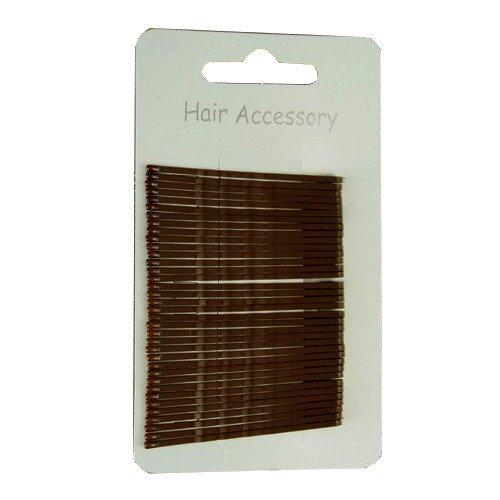 Lot de 36 pinces épingles à cheveux pour chignon marron 4,50 cm