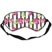 Floral Vertical Stripe Sleep Eyes Masks - Comfortable Sleeping Mask Eye Cover For Travelling Night Noon Nap Mediation... preisvergleich bei billige-tabletten.eu