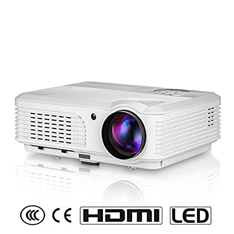 Eug 3200 Lumens Portable LED Video Projector Support 1080P HD for