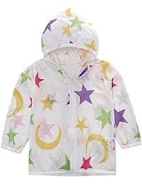 ☺HWTOP Zip Mäntel Kapuzenjacke Kleinkind Kinder Jungen Mädchen Hoodie Sommer Sonnencreme Sterne Drucken Süß Jacken Baby mit Kapuze Oberbekleidung