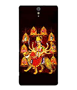 PrintVisa Designer Back Case Cover for Sony Xperia C5 Ultra Dual :: Sony Xperia C5 E5533 E5563 (Design Statue Background Wallpaper Hindu Art Culture)
