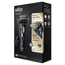 Braun Series 9 9240s Rasoio Elettrico Barba a Lamina Wet&Dry da Uomo con Base di Ricarica, Versione Vecchia