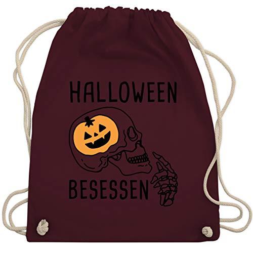 Halloween - Halloween Besessen Totenkopf Kostüm - Unisize - Bordeauxrot - WM110 - Turnbeutel & Gym Bag