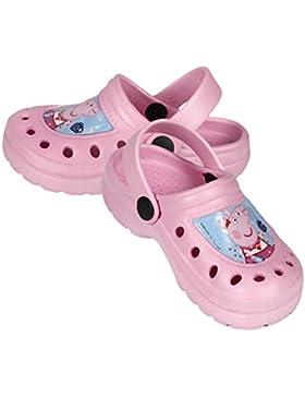 Peppa Pig Zuecos Tipo Crocs mas Gafas de Sol, Color Rosa Gafas 2 a 6 Años.