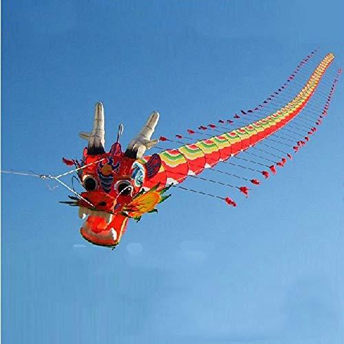 SECVBG Artesanías Tradicionales Chinas Cabeza De Dragón Ciempiés Niños Cometa De Siete Metros Largo Al Aire Libre Padre-Hijo