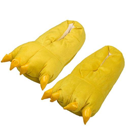 Tuopuda Zapatos Zapatillas Garras de Animal Traje de Disfraz para Adulto Unisex Carnaval Halloween de Terciopelo Felpa Zapatos Invierno (L (EU 41-45), Amarillo)
