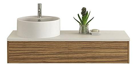 Design Badmöbel Set Biel Zebra-Dekor Badset mit Keramik Waschbecken Unterschrank mit push open Marken Sanitär Artikel von Jet-Line