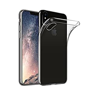 Cover iPhone X [Supporta la Ricarica Wireless] Custodia Trasparente Antiurto Sottile Anti Scivolo Guscio In Tpu Silicone Flessibile Gel Gomma Morbida Slim Protettiva Bumper Crystal Clear iPhone 10
