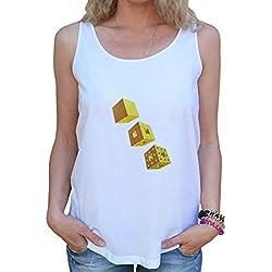 Camiseta Esponja de Menger para Mujer Blanco XL